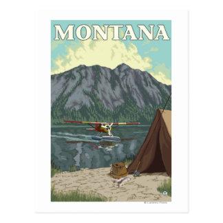 Bush Plane & Fishing - Montana Postcard