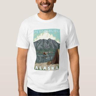 Bush Plane & Fishing - Petersburg, Alaska T-shirt