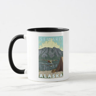 Bush Plane & Fishing - Seward, Alaska Mug