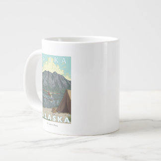 Bush Plane & Fishing - Sitka, Alaska Giant Coffee Mug