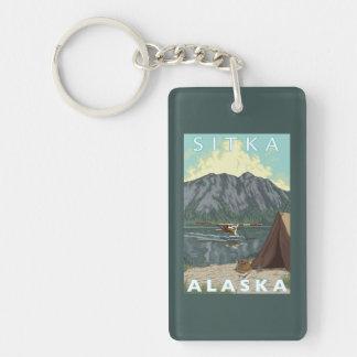 Bush Plane & Fishing - Sitka, Alaska Keychain
