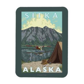 Bush Plane & Fishing - Sitka, Alaska Rectangular Photo Magnet