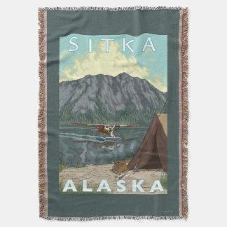 Bush Plane & Fishing - Sitka, Alaska Throw