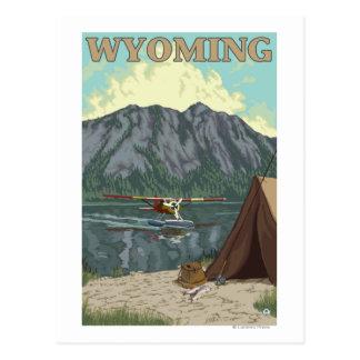Bush Plane & Fishing - Wyoming Postcard