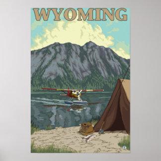 Bush Plane & Fishing - Wyoming Poster