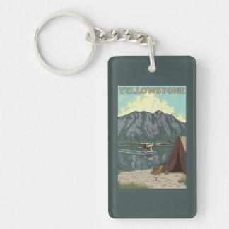 Bush Plane & Fishing - Yellowstone National Rectangle Acrylic Key Chain