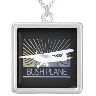 Bush Plane Silver Plated Necklace