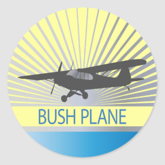 Bush Plane Round Sticker