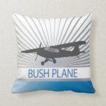 Bush Plane Throw Pillow