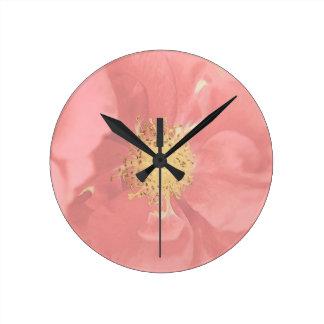 Bush Roses Mono Round Clock