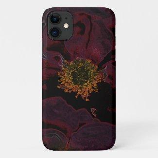 Bush Roses Neon iPhone 11 Case