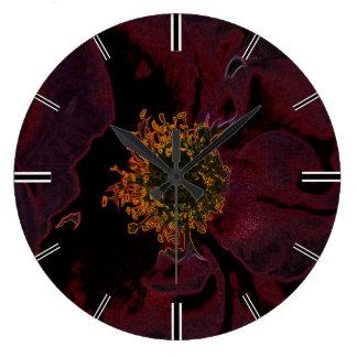 Bush Roses Neon Large Clock
