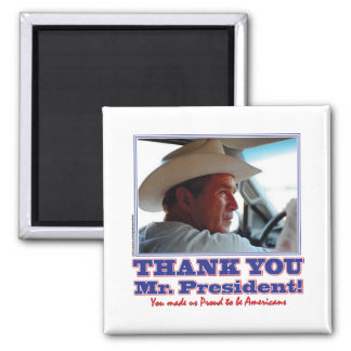 Bush-Thank-You-American 2 Inch Square Magnet