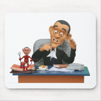 bush wants his chair back! mouse pad