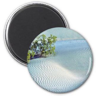Bush y arena ondulada, dunas grandes imán redondo 5 cm
