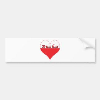 Busha Polish Heart Bumper Sticker
