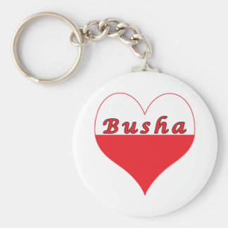 Busha Polish Heart Keychain