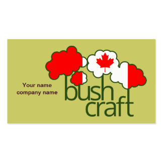 Bushcraft Canada flag Double-Sided Standard Business Cards (Pack Of 100)
