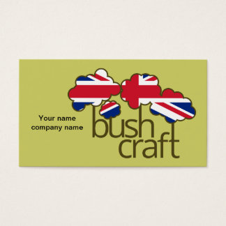 Bushcraft United Kingdom flag Business Card