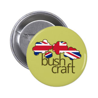 Bushcraft United Kingdom flag Button