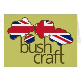Bushcraft United Kingdom flag Card
