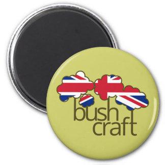 Bushcraft United Kingdom flag Magnet