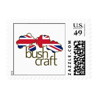 Bushcraft United Kingdom flag Postage Stamps