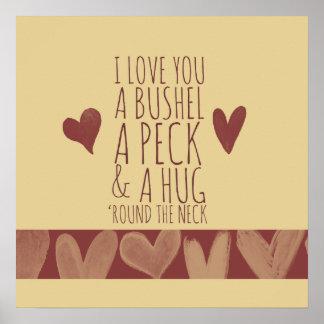 Bushel and peck poster