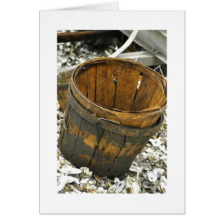Bushel Baskets and Oysters Greeting Card