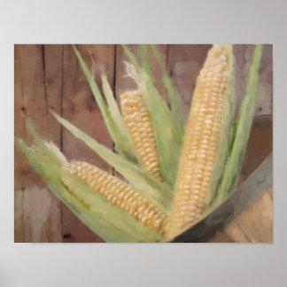 Bushel of corn poster