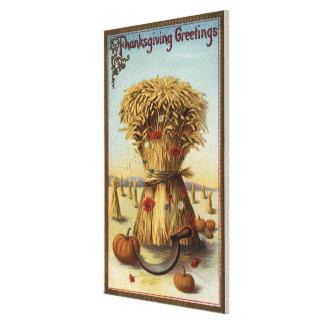 Bushel of Hay and Scythe Canvas Print