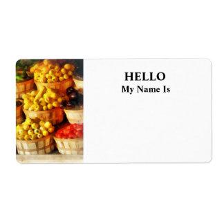 Bushels of Flavor Shipping Label