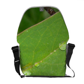 Bushes in Rain Drops Messenger Bag