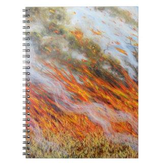 Bushfire Inferno 2014 Spiral Notebook