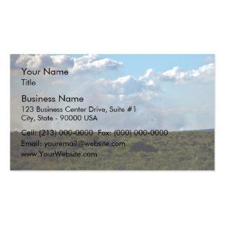 Bushfire smoke business card
