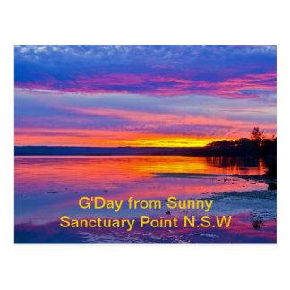 Bushfire Sunset Postcard