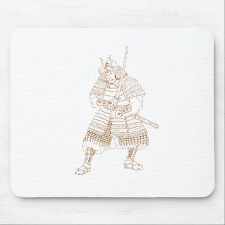 Bushi Samurai Warrior Drawing Mouse Pad