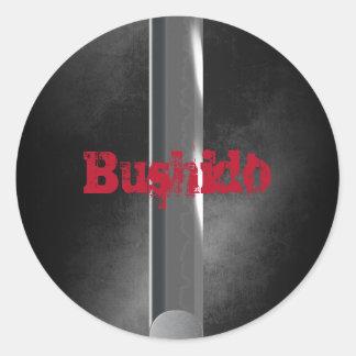 Bushido Round Stickers