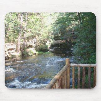 Bushkill Falls - Mt. Pocono, PA mousepad
