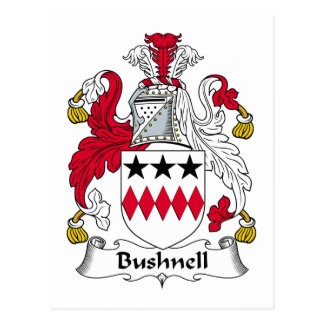Bushnell Family Crest Postcard