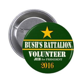 Bush's Battalion: Jeb Bush for President 2016 Pinback Button