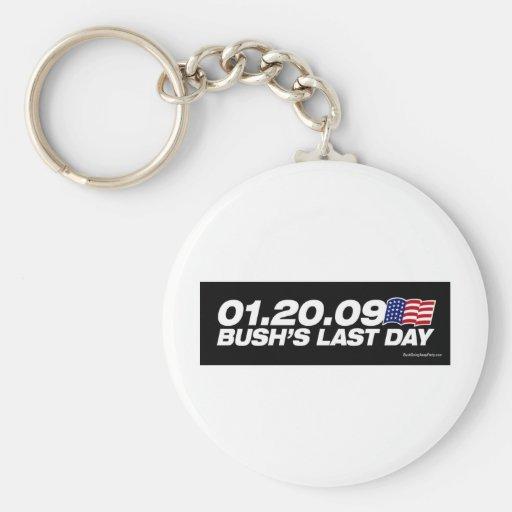Bush's Last Day Keychain