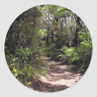 Bushwalking en Nueva Zelanda Pegatina Redonda