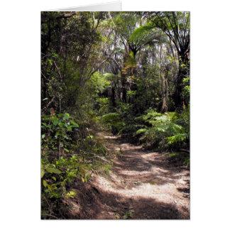 Bushwalking en Nueva Zelanda Tarjeta De Felicitación