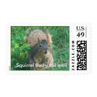 Bushy tail mail stamps