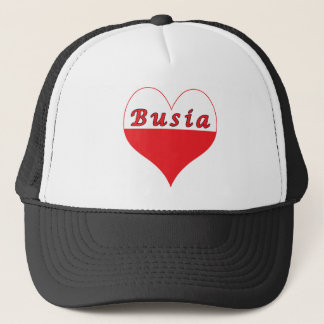 Busia Polish Heart Trucker Hat