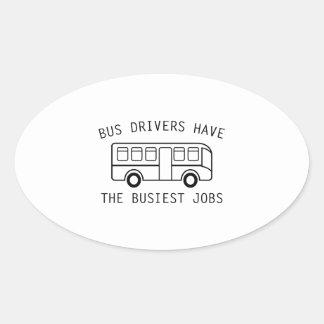 Busiest Jobs Oval Sticker