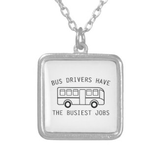 Busiest Jobs Silver Plated Necklace