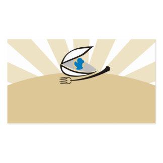 Busin de la cocina del mundo de la bifurcación de tarjetas de visita