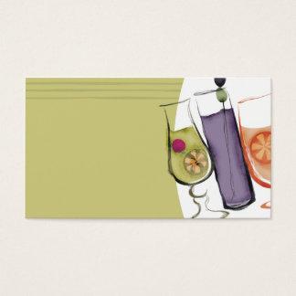 busine exótico retro del camarero del planificador tarjeta de negocios
